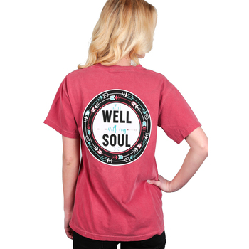Beautifully Blessed, It is Well With My Soul, Women's Short Sleeve T-Shirt, Crimson, S-2XL