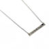 H.J. Sherman, Philippians 4:13, I Can Do All Things Bar Necklace, Rhodium Plated, 18 inches