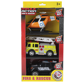 Sunny Days, Maxx Action Fire & Rescue Vehicles, 1 Each of 3 Vehicles, Ages 3 and Older