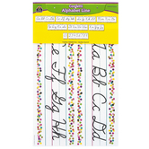 Teacher Created Resources, Confetti Cursive Writing Bulletin Board Set, 9 Pieces