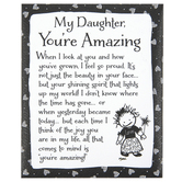 Blue Mountain Arts, My Daughter You Are Amazing Magnet, Black and White, 4 x 3 1/4 x 1/2 inches
