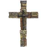 Words of Inspiration Wall Cross, Resin, 23 1/4 x 14 3/4 inches