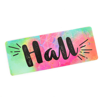 Retro Chic Collection, Hall Pass, 3 x 6 Inches, Multi-Colored