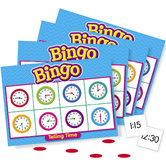 Trend, Telling Time Bingo Game, Ages 6 Years and Older, 3 to 36 Players