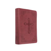 NIV Compact Bible with Cross Emblem, Imitation Leather, Burgundy