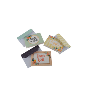Brother Sister Design Studio, Assorted Floral Design Thank You Note Cards, 48 Cards with Envelopes