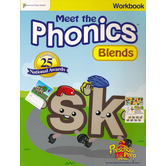 Preschool Prep Company, Meet the Phonics: Blends, Workbook, 100 Pages, Grades PreK-1