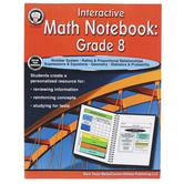 Carson-Dellosa, Interactive Math Notebook Resource Book, Paperback, 64 Pages, Grade 8