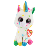 Ty, Beanie Boos, Harmonie Unicorn Plush, Speckled, 6 inches