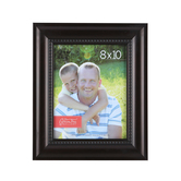 Wide Scoop Photo Frame with Beads, 8 x 10 inches, Bronze
