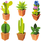 Creative Teaching Press, Positively Plants 3D Pop Potted Plants Bulletin Board Set, Multi-Colored, 18 Pieces