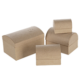 Paper Mache Chest Boxes, Assorted Sizes, Set of 4