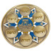 Holy Land Gifts, If I Forget Jerusalem Passover Plate, Polyresin, Gold, 9 Inches