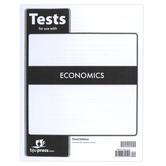 BJU Press, Economics Tests, 3rd Edition, Paperback, 88 Pages, Grade 12