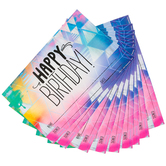 Retro Chic Collection, Happy Birthday Certificate, 8.5 x 6.5 Inches, Multi Colored, Pack of 30
