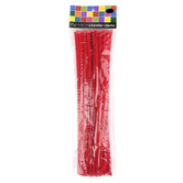 Tree House Studio, Chenille Stems, 12 x 1/4 Inches, Red, 50 Count