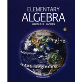 Master Books, Jacobs Elementary Algebra, Student Text, Hardcover, 380 Pages, Grades 9-10