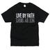 NOTW, 2 Corinthians 5:7 Live By Faith, Men's Short Sleeved T-Shirt, Black, 2X-Large
