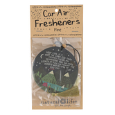 Natural Life, How Cool Is It Air Freshener, Pine Scent, Pressed Paper, Navy and Gold, 3 1/2 Inches, Set of 2