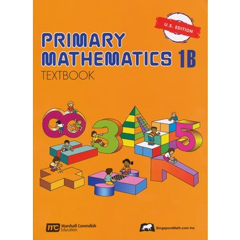 Singapore Math, Primary Math Textbook 1B, U.S. Edition, Paperback, 96 Pages, Grades 1-2
