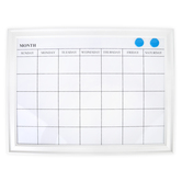 Imagination Station, Decorative Magnetic Dry Erase Calendar with Magnets, White, 18 x 24 Inches, 1 Board
