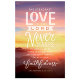 Salt & Light, Lamentations 3:22-23 Steadfast Love Church Bulletins, 8 1/2 x 11 inches Flat, 100 Count