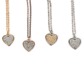 Howard's, Two-Tone Tailor Heart Necklace, Nickel-Free Metal, Assorted Color Combinations, 16 Inches