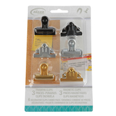 The Board Dudes, Magnetic & Push Pin Clips Combo Pack, Assorted Colors, 6 Pieces, 1.5-inch Clips