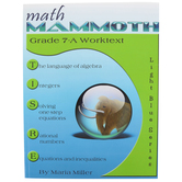 Math Mammoth, Grade 7-A Worktext, Light Blue Series by Maria Miller, Paperback, Grade 7