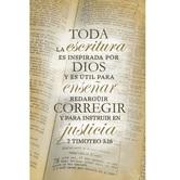 Salt & Light, Toda La Escritura Spanish Church Bulletins, 8 1/2 x 11 inches Flat, 100 Count