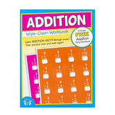 Twin Sisters, Addition Wipe-Clean Activity Book, 12 Pages, Grades K-3