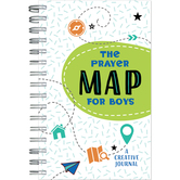 The Prayer Map for Boys: A Creative Journal, by Barbour Books, Spiral Bound