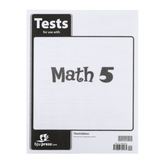 BJU Press, Math 5 Tests, 3rd Edition, Paper, Grade 5