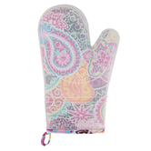 Two Lumps of Sugar, Paisley Medallion Mitt, Silicone and Cotton, Assorted Colors, 5 x 7 1/2 inches
