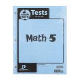 BJU Press, Math 5 Tests Answer Key, 3rd Edition, Paper, Grade 5
