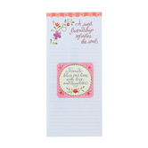 Product Concepts, Sweet Friendship Inspirational Memo Pad and Gift Magnet, White/Pink, 4 x 9 Inches
