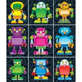 Carson Dellosa, Robot Prize Pack Stickers, 1 x 1 Inch, Multi-Colored, Pack of 216