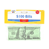 Learning Advantage, One Hundred Dollar Bill Play Money, 6 1/4 x 2 1/2 inches, Set of 100