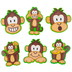 Renewing Minds, Mini Cutouts, Monkeys, 6 Designs, 3 x 2 Inch, Multi-Colored, 36 Pieces