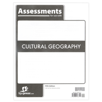 BJU Press, Cultural Geography Assessments, 5th Edition, Paperback, 128 Pages, Grade 9