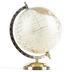 Cream and Gold Decorative Globe, 10 7/8 x 8 3/4 Inches