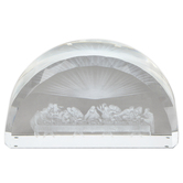 Christian Brands, The Last Supper Etched Glass Plaque, 4 x 7 x 1 1/2 inches