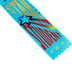 The Diploma Mill, Star Student Ribbon, 2 x 6 Inches, Teal Blue, 1 Each