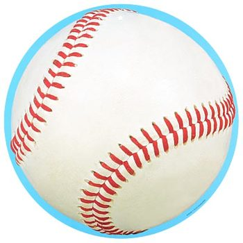 Renewing Minds, Baseball Two-Sided Hanging Decoration, 1 Piece