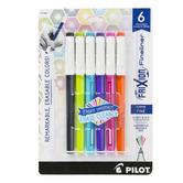 Pilot, FriXion Fineliner Erasable Marker Pens, 1 Each of 6 Colors