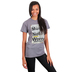 His Word Clothing Company, Matthew 6:34 Must Not Worry, Women's Short Sleeve T-shirt, Heather Gray, Small