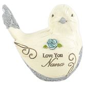 Pavilion Gift, Love You Nana Bird Figurine, Resin, Cream, 5 x 4 x 3 inches