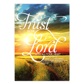 Renewing Minds, Trust in the Lord, Christian Classroom Poster, 13 x 19 Inches