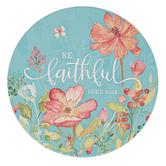 Christian Art Gifts, Luke 16:10 Be Faithful Trivet, Ceramic, Turquoise, 7 1/2 x 7 1/2 x 1 inches