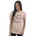 Ruby's Rubbish, Leave the Judgin' to Jesus, Women's Short Sleeve T-shirt, Blush Heather, Small
